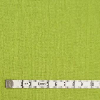 コットン×無地(ライムグリーン)×Wガーゼワッシャー_全20色 サムネイル4