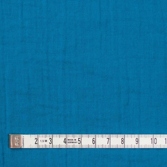 コットン×無地(ターコイズブルー)×Wガーゼワッシャー_全20色 イメージ4