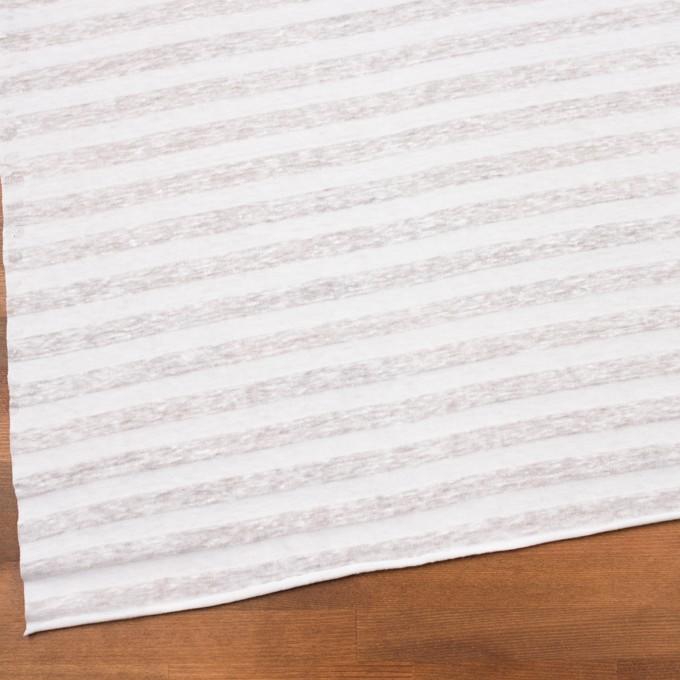 コットン&リネン×ボーダー(ホワイト)×天竺ニット_全3色_イタリア製 イメージ2