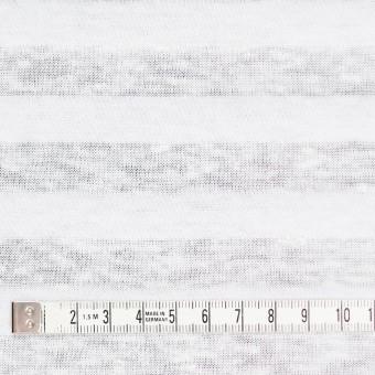 コットン&リネン×ボーダー(ホワイト)×天竺ニット_全3色_イタリア製 サムネイル4