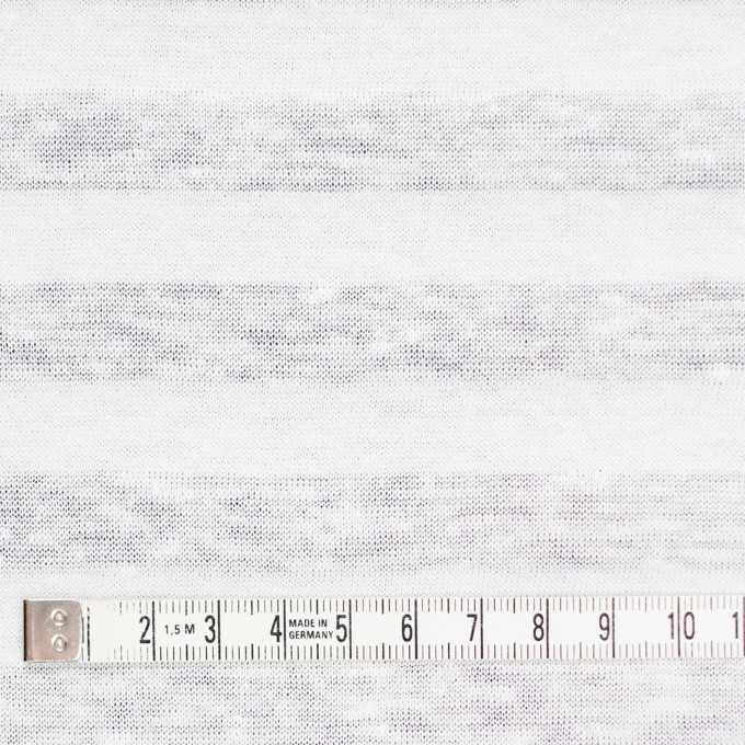 コットン&リネン×ボーダー(ホワイト)×天竺ニット_全3色_イタリア製 イメージ4