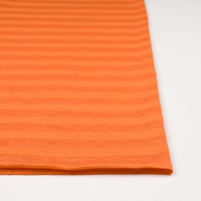 コットン&リネン×ボーダー(キャロット)×天竺ニット_全3色_イタリア製 イメージ3