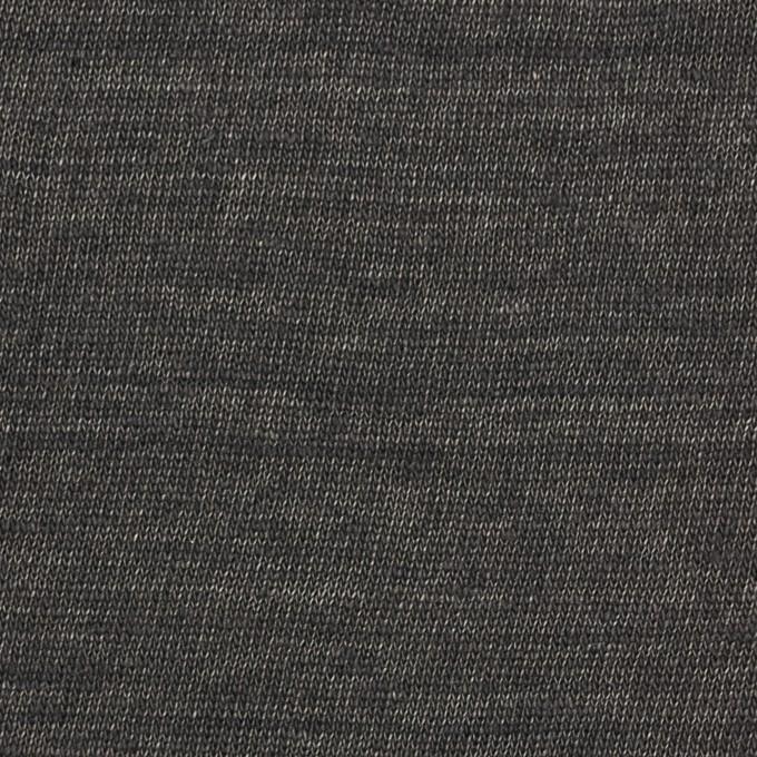 リネン×無地(チャコール)×天竺ニット_全5色 イメージ1
