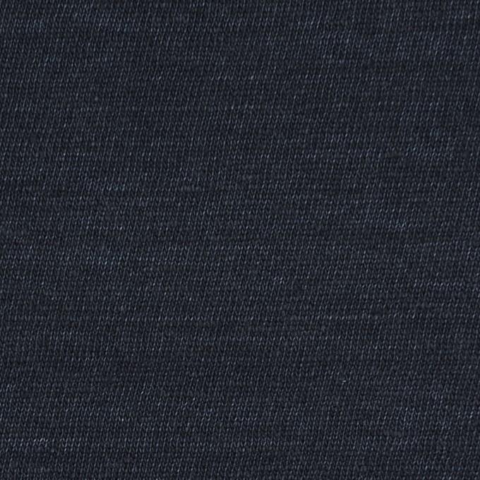 リネン×無地(ダークネイビー)×天竺ニット_全5色 イメージ1