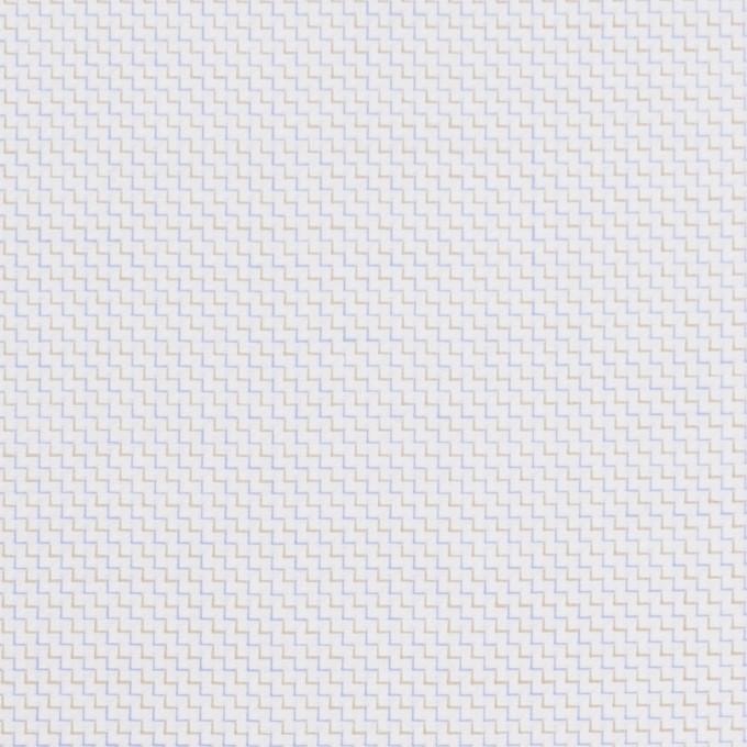 コットン×バイヤス(ベージュ&サルビアブルー)×ヘリンボーン イメージ1