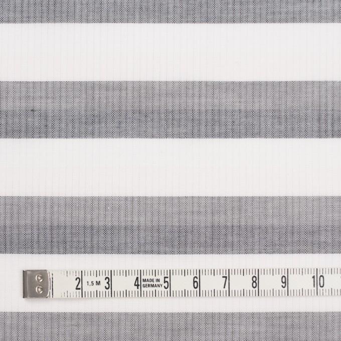 コットン×ボーダー(ホワイト&グレー)空羽シャンブレー イメージ4