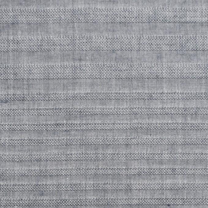 コットン×ボーダー(アッシュネイビー)×シャンブレージャガード イメージ1