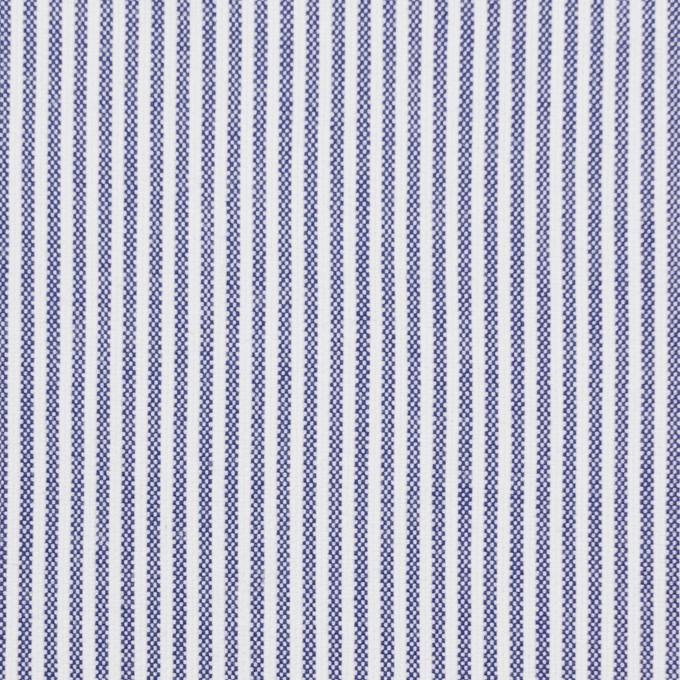 コットン&ポリウレタン×ストライプ(ブルー)×コードレーンストレッチ イメージ1