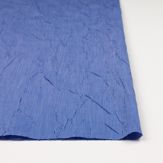 コットン&ポリエステル×ストライプ(ブルー)×ブロードワッシャー イメージ3