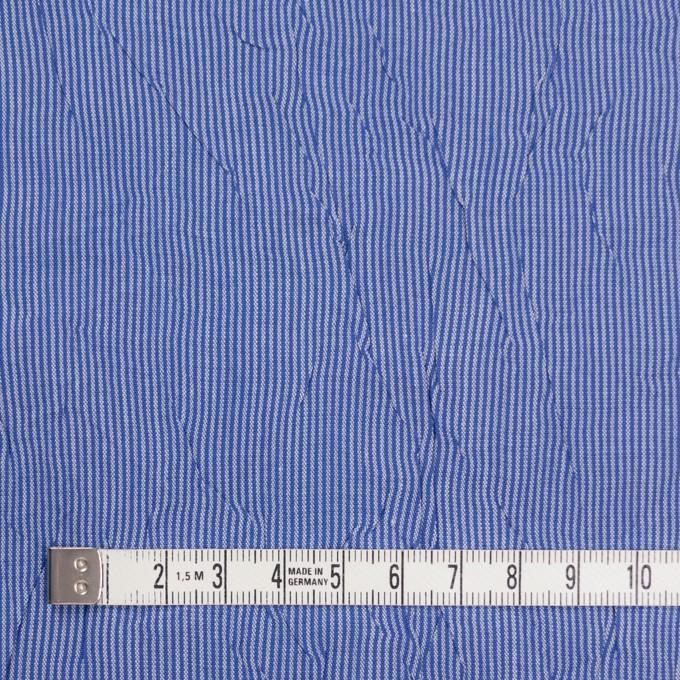 コットン&ポリエステル×ストライプ(ブルー)×ブロードワッシャー イメージ4