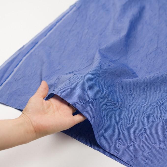 コットン&ポリエステル×ストライプ(ブルー)×ブロードワッシャー イメージ5