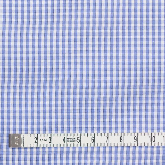 コットン×チェック(サルビアブルー)×ブロード イメージ4