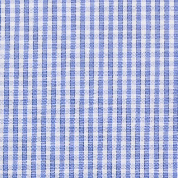 コットン×チェック(サルビアブルー)×ブロード イメージ1