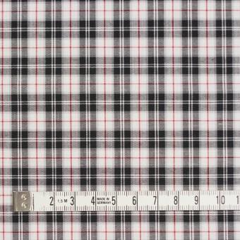 コットン×チェック(レッド&ブラック)×ブロード サムネイル4