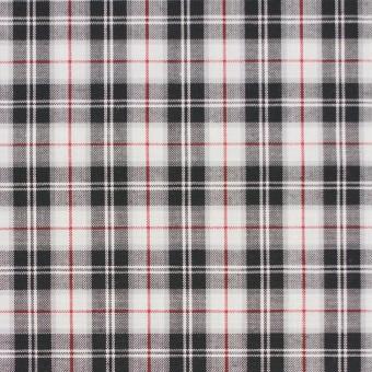 コットン×チェック(レッド&ブラック)×ブロード サムネイル1