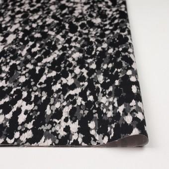 コットン&ポリウレタン×幾何学模様(ブラック)×チノクロス・ストレッチ_全2色 サムネイル3