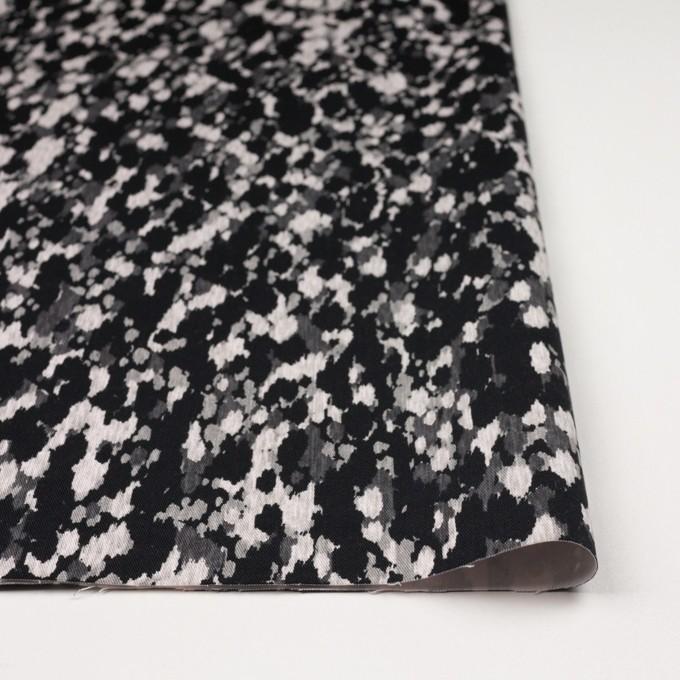 コットン&ポリウレタン×幾何学模様(ブラック)×チノクロス・ストレッチ_全2色 イメージ3