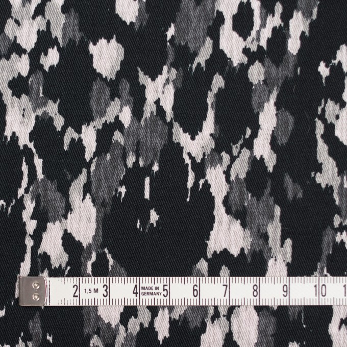 コットン&ポリウレタン×幾何学模様(ブラック)×チノクロス・ストレッチ_全2色 イメージ4