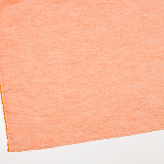 コットン&リネン×無地(オレンジ)×ボイルワッシャー_全6色 イメージ2