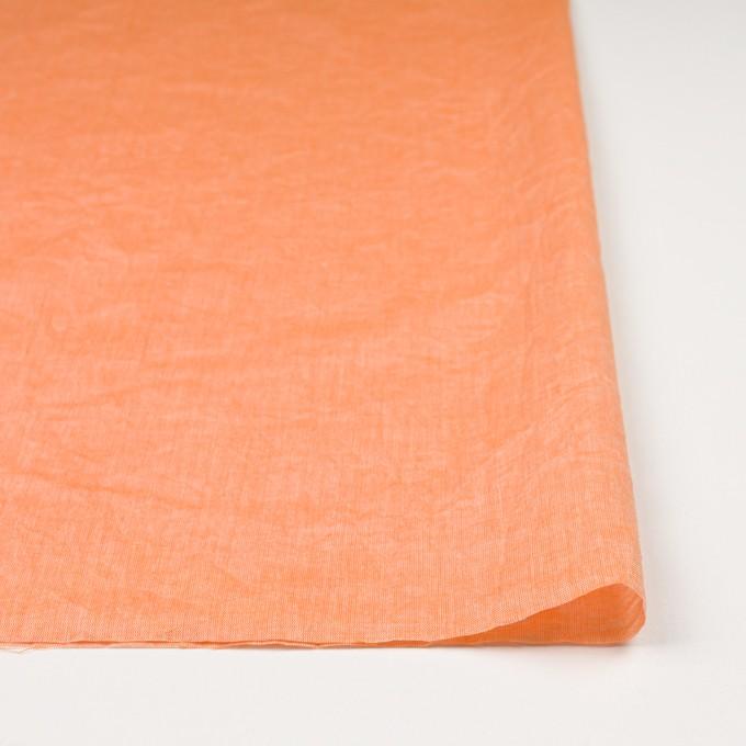 コットン&リネン×無地(オレンジ)×ボイルワッシャー_全6色 イメージ3