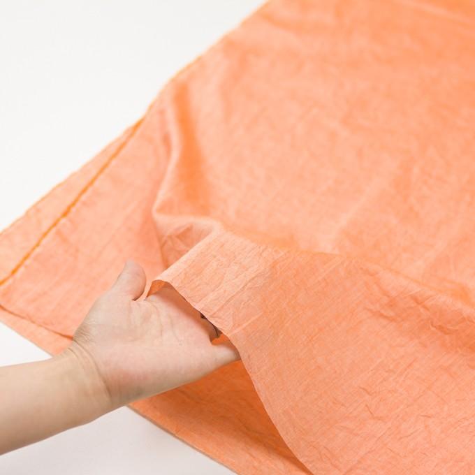 コットン&リネン×無地(オレンジ)×ボイルワッシャー_全6色 イメージ5