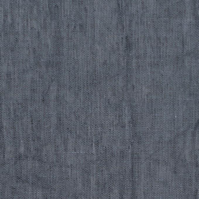 コットン&リネン×無地(スチールグレー)×ボイルワッシャー_全6色 イメージ1