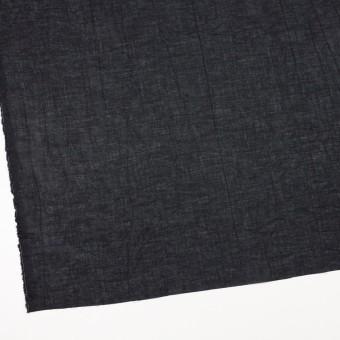 コットン&リネン×無地(ブラック)×ボイルワッシャー_全6色 サムネイル2