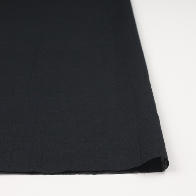 コットン&リネン×無地(ブラック)×ボイルワッシャー_全6色 イメージ3