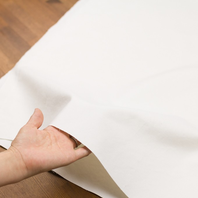 コットン&リネン×無地(オフホワイト)×モールスキン_全3色 イメージ5