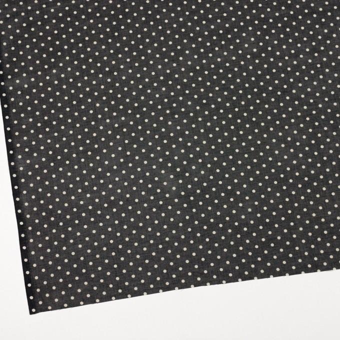 コットン×ドット(ブラック&バニラ)×ボイル_全2色 イメージ2