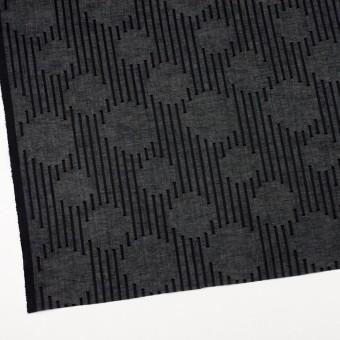 コットン×幾何学模様(ブラック)×ボイルジャガード サムネイル2