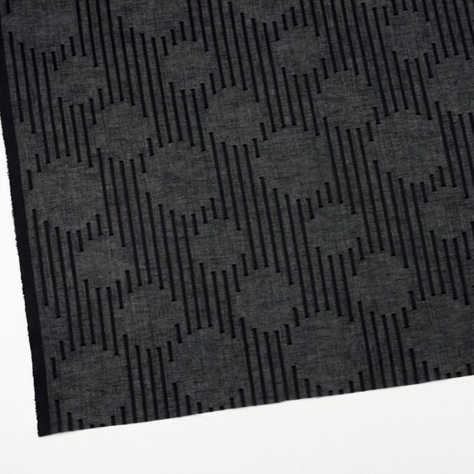 コットン×幾何学模様(ブラック)×ボイルジャガード イメージ2