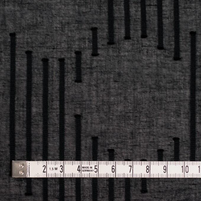 コットン×幾何学模様(ブラック)×ボイルジャガード イメージ4