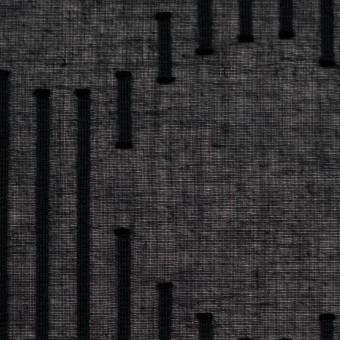 コットン×幾何学模様(ブラック)×ボイルジャガード サムネイル1