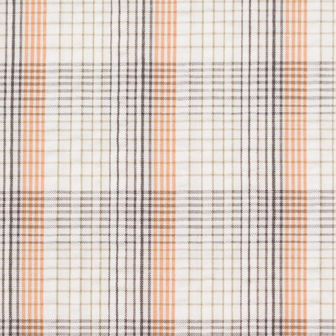 コットン×チェック(オレンジ)×サッカー_全3色 イメージ1