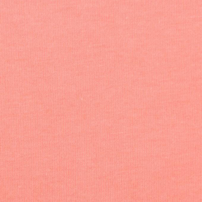 コットン×無地(コーラル)×天竺ニット_全2色 イメージ1