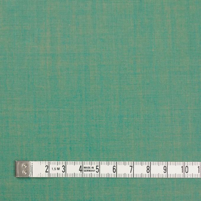 コットン×無地(エメラルドグリーン)×シャンブレー イメージ4