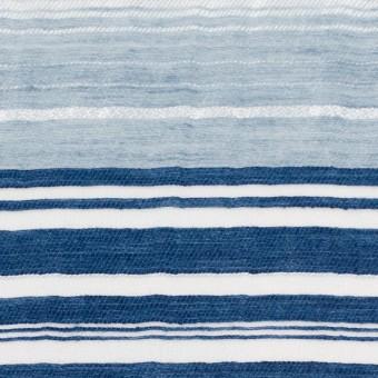コットン&ナイロン混×ボーダー(ブルーミックス)×オーガンジーワッシャー サムネイル1