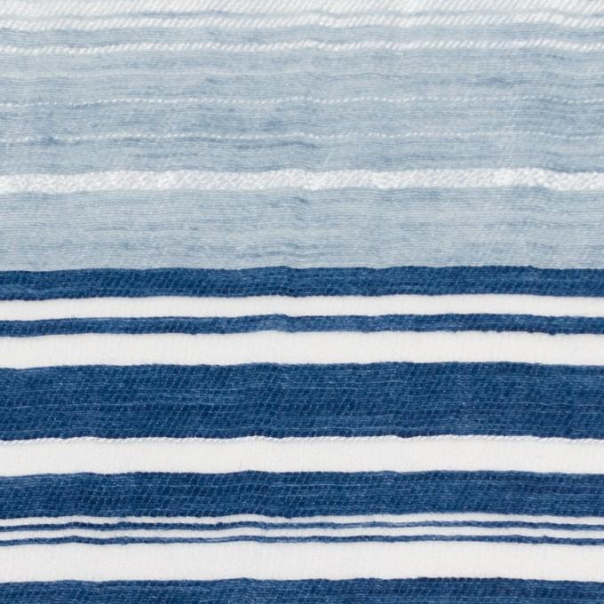 コットン&ナイロン混×ボーダー(ブルーミックス)×オーガンジーワッシャー イメージ1