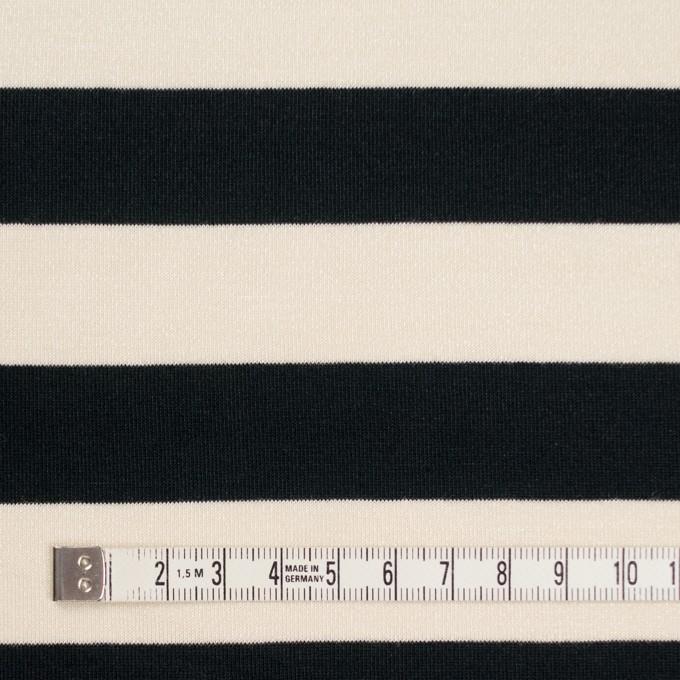 コットン&モダール×ボーダー(アイボリー&ブラック)×天竺ニット イメージ4