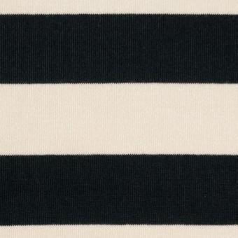 コットン&モダール×ボーダー(アイボリー&ブラック)×天竺ニット サムネイル1