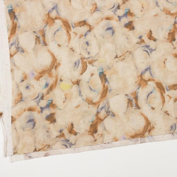 レーヨン&リネン×幾何学模様(ベージュ)×天竺ニット イメージ2