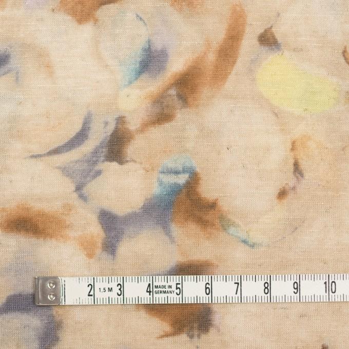 レーヨン&リネン×幾何学模様(ベージュ)×天竺ニット イメージ4