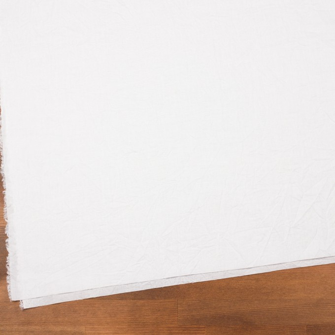 コットン&リネン×無地(ホワイト)×ボイルワッシャー_全5色 イメージ2