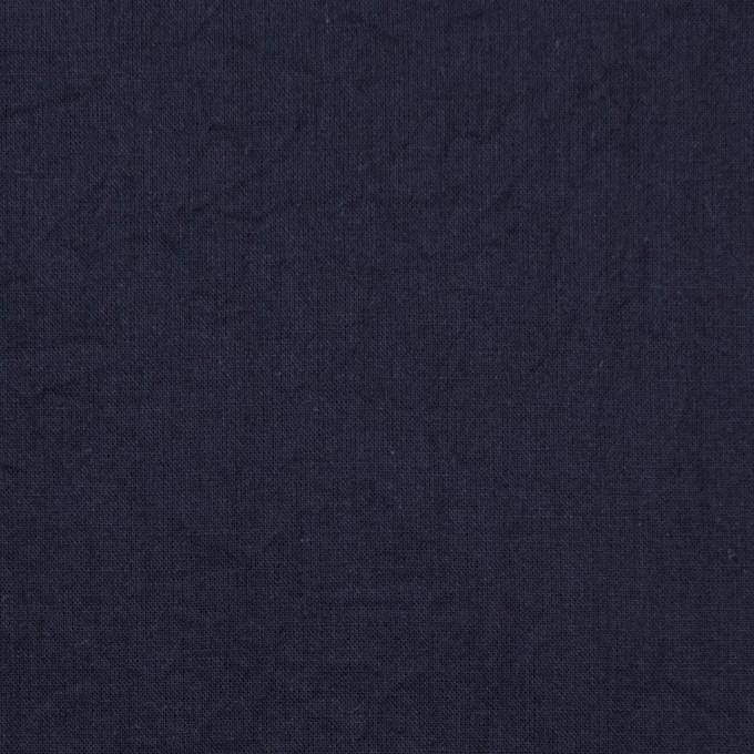 コットン&リネン×無地(ネイビー)×ボイルワッシャー_全5色 イメージ1