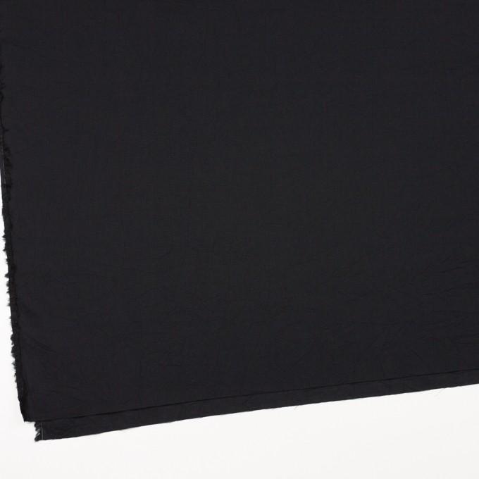 コットン&リネン×無地(ブラック)×ボイルワッシャー_全5色 イメージ2