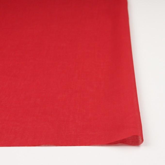 コットン×無地(レッド)×ボイル_全9色_フランス製 イメージ3