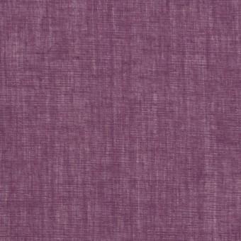 コットン×無地(プラムパープル)×ボイル_全9色_フランス製 サムネイル1