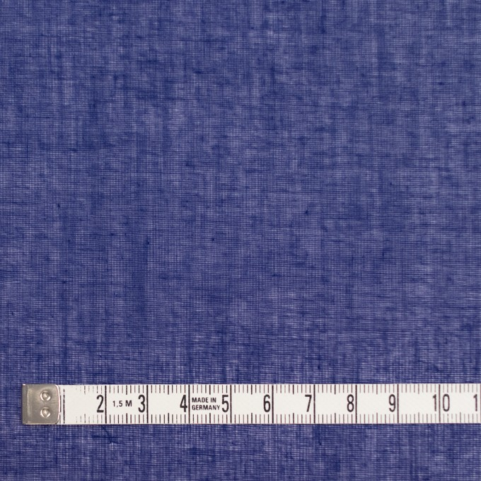 コットン×無地(プルシアンブルー)×ボイル_全9色_フランス製 イメージ4