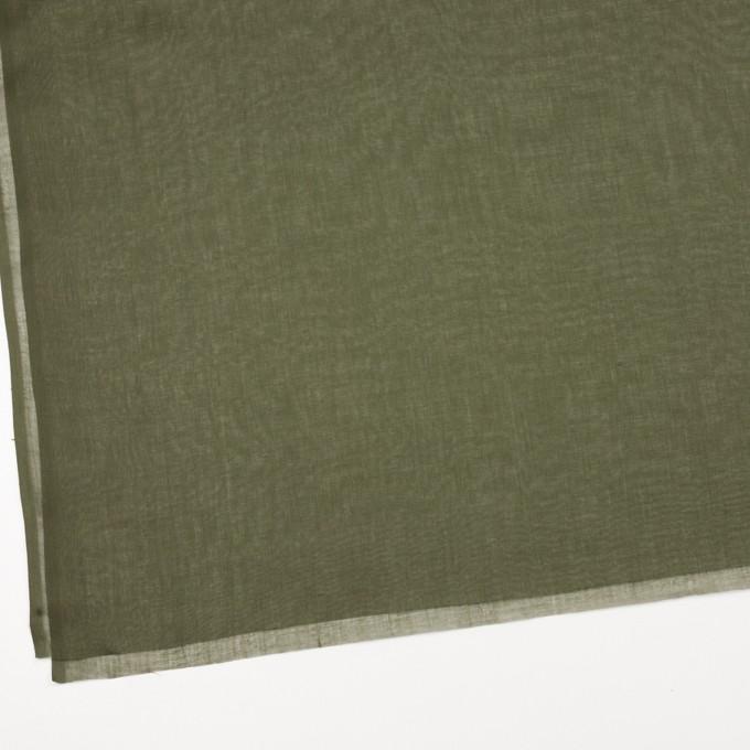 コットン×無地(カーキグリーン)×ボイル_全9色_フランス製 イメージ2